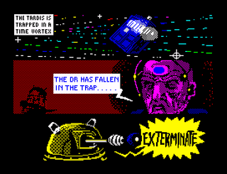 ZX Spectrum - Spectaculator - Dr. WHO surrender the time