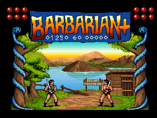 Amiga WinUAE Barbarian Plus Game
