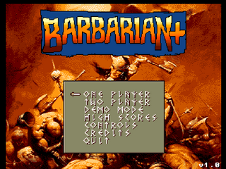 Amiga WinUAE Barbarian Plus