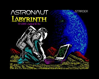 Zx spectrym Spectaculator Astronaut Labirynth