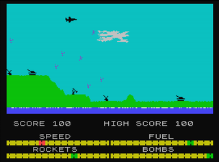 ZX Spectrum Speccy Harrier Attack