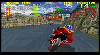 Sega Saturn SSF Hang-On GPSEGAofAmerica,Inc.:GenkiCo.,Ltd.:1996: