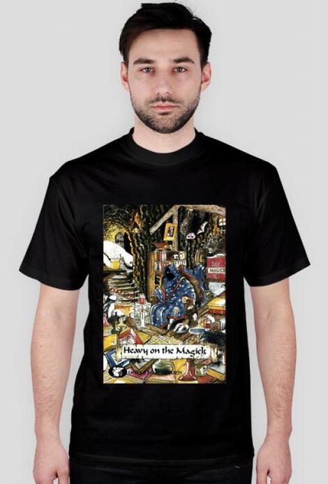 Retro T-Shirt Heavy on the Magick - męski podkoszulek