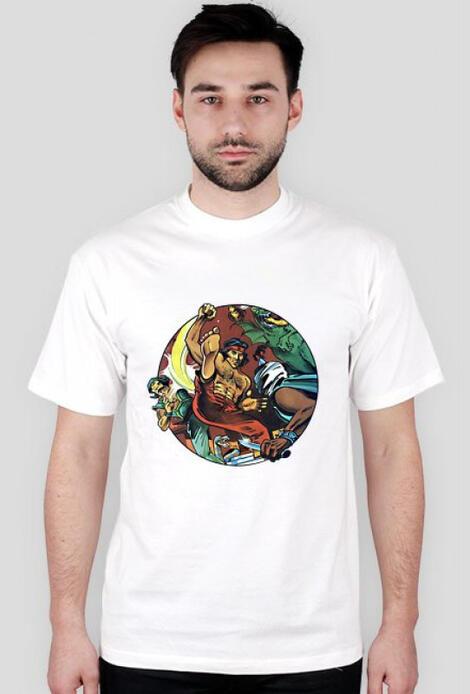 Retro T-Shirt Kung Fu Master  - męski podkoszulek
