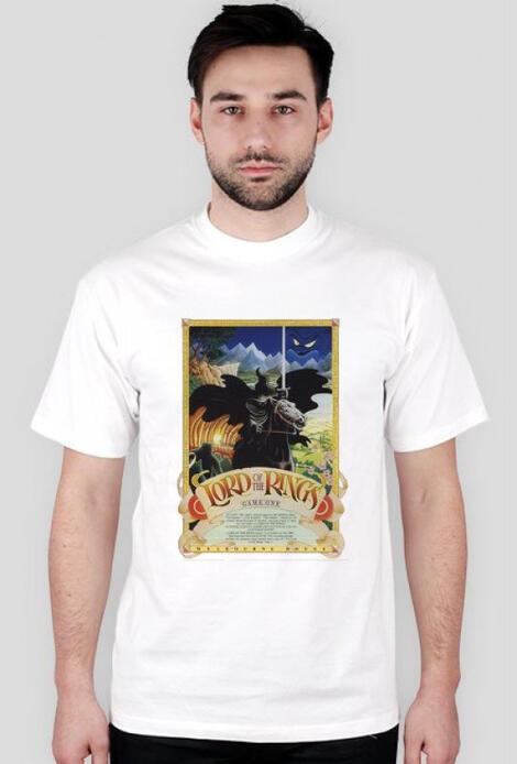 Retro T-Shirt Lord of the Rings ZX Spectrum Casette Cover - męski podkoszulek
