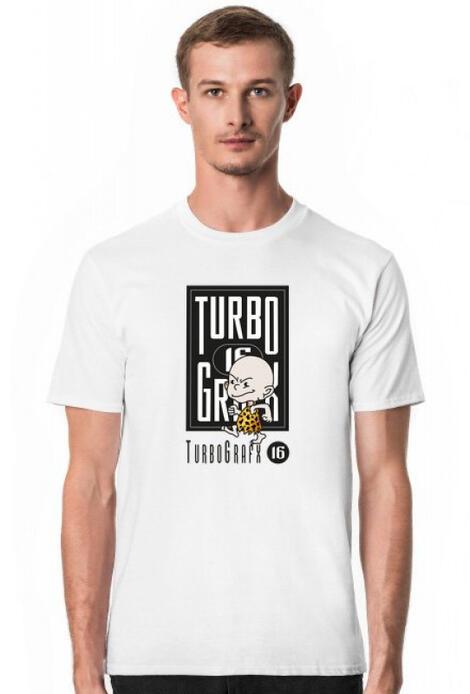 Retro T-Shirt Turbograpx 16 Bong Style   - męski podkoszulek