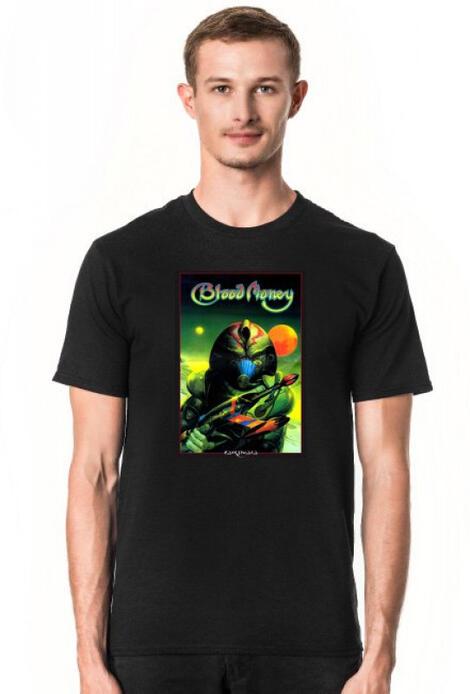Retro T-Shirt Blood Money Amiga Disc Cover - męski podkoszulek