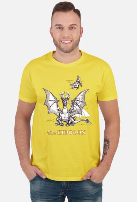 Retro T-Shirt The Eidolon Yellow/White - męski podkoszulek