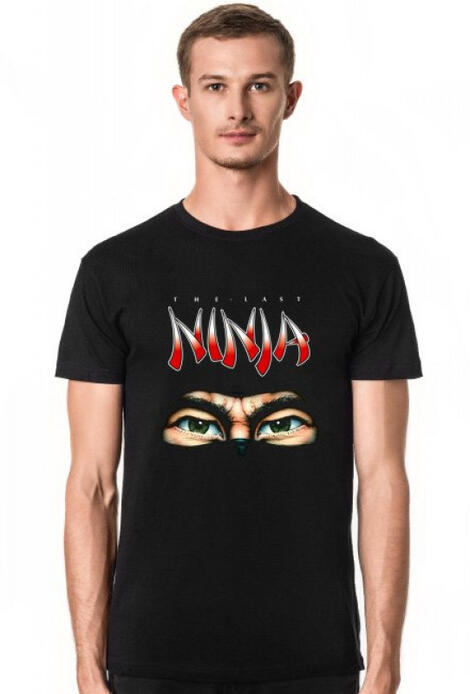 Retro T-Shirt The Last Ninja C64 - męski podkoszulek
