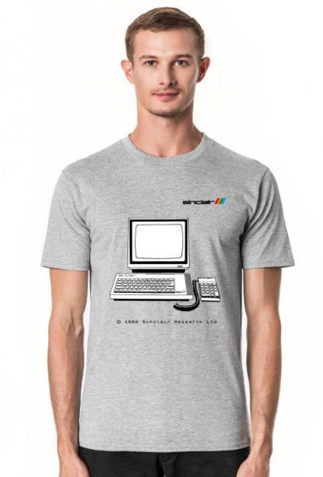 Retro T-Shirt ZX Spectrum Plus Bajtek - męski podkoszulek