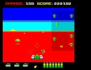 ZX Spectrum:Retro:Battle tank 3D and some crazy aliens:2014