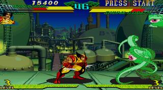 Sega Saturn SSF Marvel Super Heroes vs Street Fighter