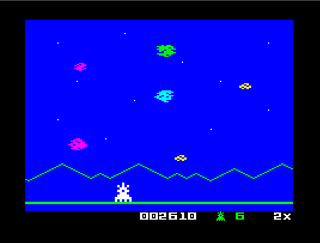 ZX Spectrum - Spectaculator - Astrosmash