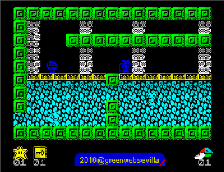 ZX Spectrum - Spectaculator - Fantasy Zone Escape from the Pyramid