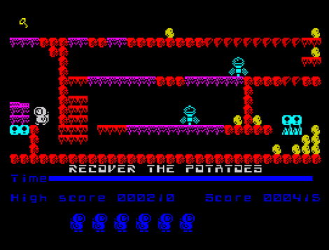 ZX Spectrum - Spectaculator - Left Behind  Escape from Mars