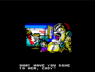 ZX Spectrum - Spectaculator - The Mighty Final Fight Intro