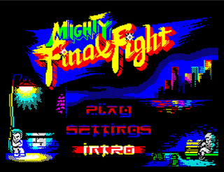 ZX Spectrum - Spectaculator - The Mighty Final Fight Menu