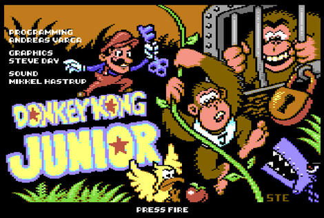 Commodore:C64:WinVice:Donkey Kong Jr.:2014:Ste\'64