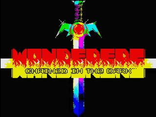 Retro - Wanderers. Chained in the dark. (ZX Spectrum). SAM style - main coder, some gfx; SCL - map gfx, beta testing;SAND - title picture; RISKEJ - music; RASMER - beta testing, 2014