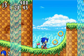 GameBoy:Advance:GBA:VisualGameBoyAdvance-M:Sonic:SEGA of America, Inc., THQ Inc.:Dimps Corporation, Sonic Team:Feb 04, 2002: