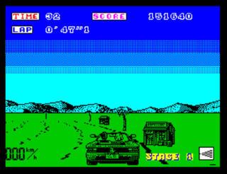 ZX:Spectrum:Sinclair:Spud:Turbo Outrun:U.S. Gold Ltd.:SEGA Enterprises Ltd.:1989: