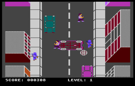 Atari XE:XL:800:Altirra:Los Angeles SWAT:Mastertronic Ltd.:Sculptured Software, Inc.:1986: