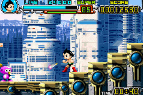 GBA Visual Advance - M:Astro Boy - Omega Factor:SEGA of America, Inc.:Hitmaker, Treasure Co., Ltd.:Aug 17, 2004: