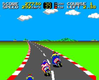 Sega:Master System:GearSystem:Hang-On:SEGA of America, Inc.:SEGA Enterprises Ltd.:1985: