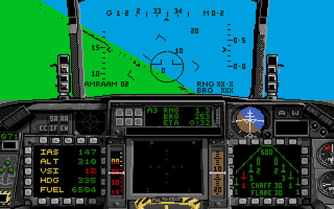 Atari ST Steem:F16 Combat Pilot:Digital Integration Ltd.:Digital Integration Ltd.:1989: