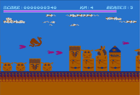 Atari:XE/XL:Altirra:Matrix: Gridrunner 2 (a.k.a. Attack of the Mutant Camels):Hesware:1983: