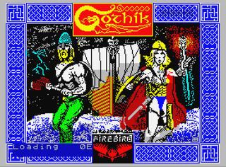 Spectrum:Sinclair:Speccy:Gothik:Firebird Software Ltd.:1987: