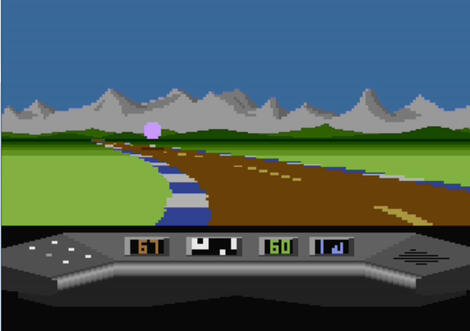 Atari:XE/XL:Atari800:Elektraglide (a.k.a. Electra Glide):Mastertronic Ltd.:English Software Company, The:1985: