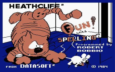 Atari XE/XL:Atari800:Heathcliff:Fun with spelling:DataSoft:1984