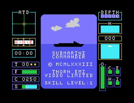 Gamebase Texas Instruments:TI99/4a:MESS:Submarine Commander:Thorn Emi:1983: