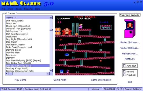 Arcade Frontend:Mame Classic: