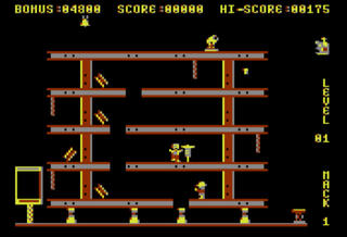 Atari:XE/XL:Altirra:Hard Hat Mack:Electronic Arts:1983: