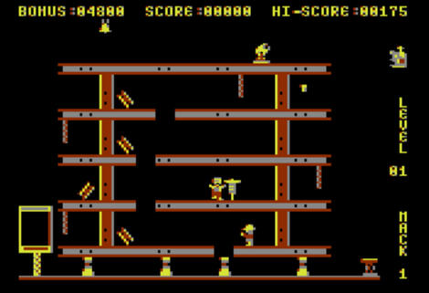 Atari XE/XL:Altirra:Hard Hat Mack:Electronic Arts:1983: