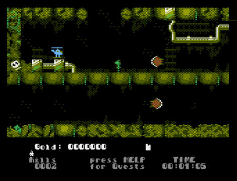 Atari XE/XL:Altirra:Heli in the Caves:2013