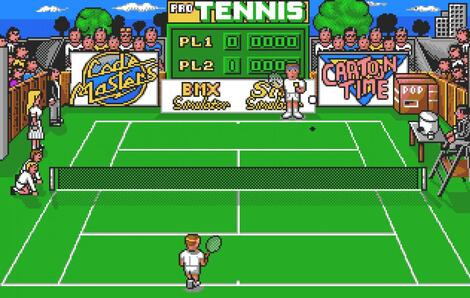 Atari ST Steem:Pro Tennis Simulator:Codemasters Software Company Limited, The:Codemasters Software Company Limited, The:1990: