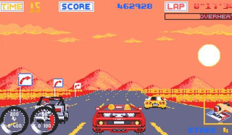 Atari ST Steem:Turbo Outrun:U.S. Gold Ltd.:SEGA Enterprises Ltd.:1989: