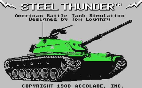 Commodore C64:Steel Thunder:Accolade, Inc.:Accolade, Inc.:1988: