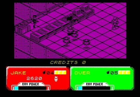 ZX Spectrum:ZxMak2:Escape from the Planet of the Robot Monsters: Domark Software Ltd.:Atari Games Corporation:1990: