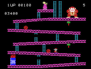 Colecovision:ColEm:Donkey Kong:Coleco Industries, Inc.:Ikegami Tsushinki Co., Ltd., Nintendo Co., Ltd.:1982: