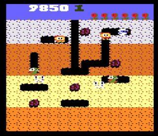 Atari:7800:emu7800:Dig Dug:AtariCorporation:NamcoLimited:1987: