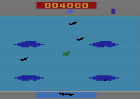 Atari 2600:VCS:Stella:Time Pilot:Coleco Industries, Inc.:Konami Industry Co. Ltd.:1983:
