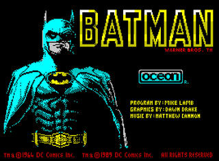 ZX:Spectrum:Speccy:Batman The Movie:Ocean Software Ltd.:Ocean Software Ltd.:1989: