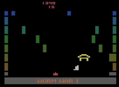 Atari 2600:VCS:Stella:Worm War I:Fox Video Games, Inc.:Sirius Software, Inc.:1982:
