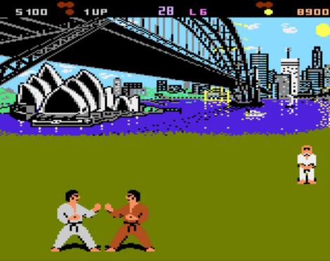 Atari XE/XL:Altirra:World Karate Championship (a.k.a. International Karate):Epyx, Inc.:System 3 Software Ltd.:1986: