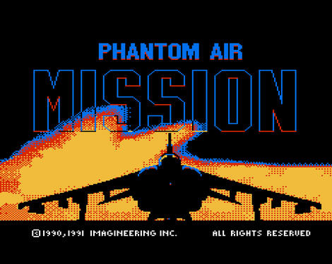 Nintendo 8 Nes:FCEUX:Phantom Air Mission:Mindscape, Inc.:Imagineering Inc.:1991:
