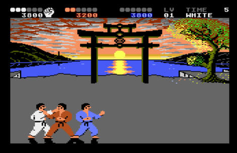 Atari:XE/XL:Altirra:Internation Karate +:Conversion: